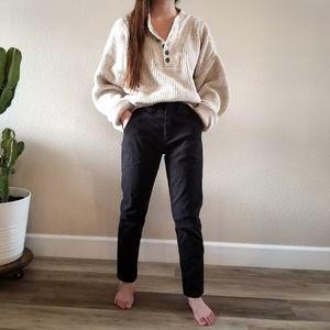 Eddie Bauer Chunky Oversized Beige Sweater Large